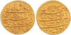 Shah Jahan - Gold Mohur - Akola-Hoard, Surat Mint, India