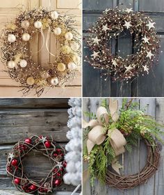 vánoční věnec na dveře - Hledat Googlem Christmas Door Wreaths, Cozy Christmas, Diy Christmas Ornaments, Holiday Wreaths, Rustic Christmas, Holiday Decor, Xmas Decorations, Christmas Inspiration, Diy And Crafts
