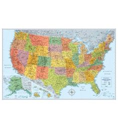 Classic USA Wall Map By GeoNova Publishing Around The World And - Us wall map for kids