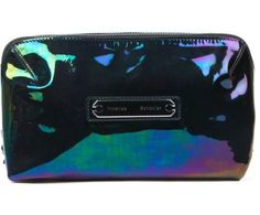 $575 Proenza Schouler W TAGS Large Iridescent Oil Slick Leather MakeUp Case bag