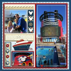 A Magical Scrap Stacks Summer: Disney Cruise Lines Cruise Scrapbook Pages, Kids Scrapbook, Travel Scrapbook, Scrapbooking Layouts, Disney Cruise Line, Disney Halloween Cruise, Disney Magic, Walt Disney, Layout Inspiration