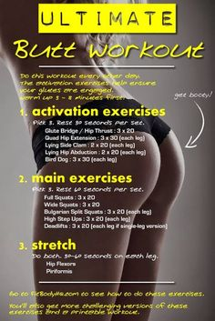 Ultimate butt workout - I feel like I might be sore after this one!