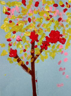 Simple Art Projects for Kids: Fine Motor Q-Tip Tree Craft!