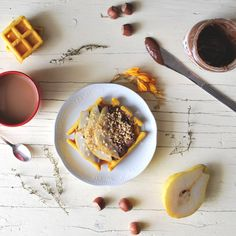 Whole wheat waffles with brown sugar