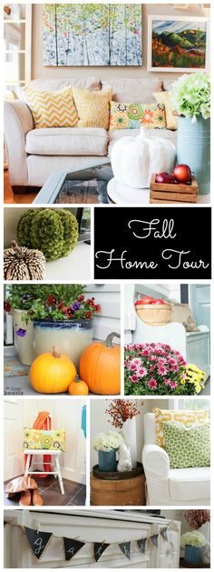 Fall Home Tour {including the stuff that's ripped apart} - The Happy Housie