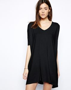 ASOS T-Shirt Dress With V Neck