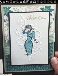 Stampin' Up!- Beautiful You with Floral Affection Embossing Folder in background. Making Greeting Cards, Greeting Cards Handmade, Diy Cards, Your Cards, Stampin Up Katalog, Stampin Up Anleitung, Karten Diy, Birthday Cards For Women, Embossed Cards