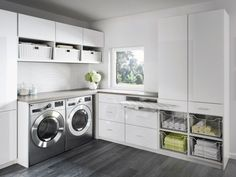 Organize your laundry room with custom cabinets and shelves designed by California Closets. Get inspired by our laundry room storage ideas and designs. Schedule a free consultation today! Laundry Room Closet, Room Remodeling, California Closets, Laundry Design, Laundry Closet, Room Storage Diy, Room Design