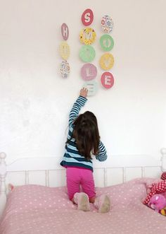 easy hanging cut out word mobile.