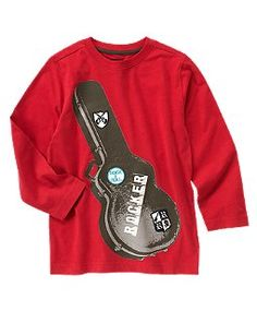 guitar tee with patches