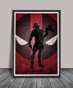 Deadpool Poster.Superheroes Minimalist .deadpool Superhero poster, Heroes Illustrations, Wall art, Artwork,Comic poster, Gift,Christmas Gift