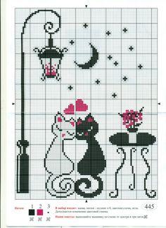 Gallery.ru / Фото #1 - h - denise10 Cross Stitch Owl, Cat Cross Stitches, Simple Cross Stitch, Beaded Cross Stitch, Cross Stitch Borders, Modern Cross Stitch, Cross Stitch Flowers, Cross Stitch Charts, Cross Stitching