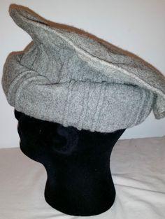 Handmade Wool Hat Pakol Cap Pakul Afghan Taliban Hat For Men&Women