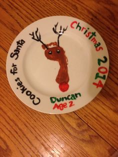 Reindeer foot plate - Cookies for Santa!