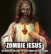 Happy Zombie Jesus Day!. He tried to come after our brains and our hearts but the Easter Bunny saved us!