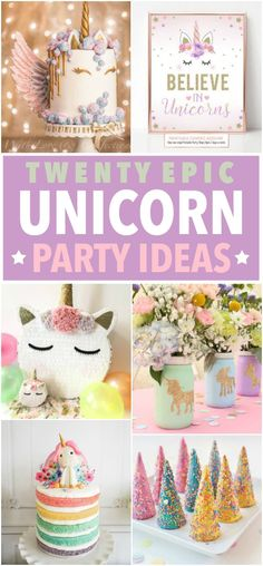 My daughter and I are in the process of planning a totally epic unicorn party this spring. She is obsessed with all things unicorn and we are so excited! A Birthday Parties, Celebrate birthday party, unicorn, unicorn birthday, unicorn treats Unicorn Birthday Parties, Birthday Fun, First Birthday Parties, First Birthdays, 1st Birthday Party Ideas For Girls, Kids Birthday Decorations, Unicorn Decorations Party, Party Themes For Kids, Birthday Centerpieces