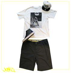 Boné / OFFICIAL Camiseta / VANS Bermuda / VANS Tênis / VANS   http://junkz.com.br/blog/2013/07/look-traje-2/