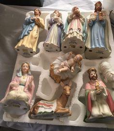 Homco Nativity Set 10 Pieces 5604 Christmas Figurines Home Interiors 1995