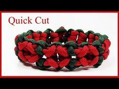 Heart pattern paracord bracelet - YouTube