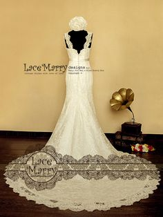 Gorgeous Lace Wedding Dress in Trumpet Shape Wedding by LaceMarry
