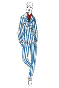 Hackett London - #fashion_illustration men