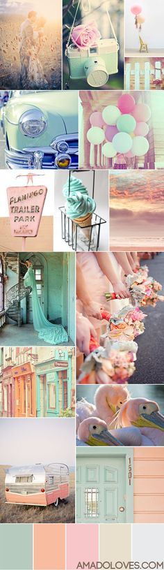Summer Breeze Colour Palette - looks like sherbert to meee. i just want those balloons.