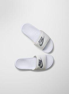 huge discount 55671 2e18b BENASSI SLIDES   Aritzia Nike Benassi, Nike Workout, Adidas Shoes Outlet,  Cute Shoes