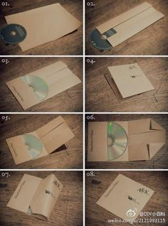 Awesome way to fold an cd-envelope ♥