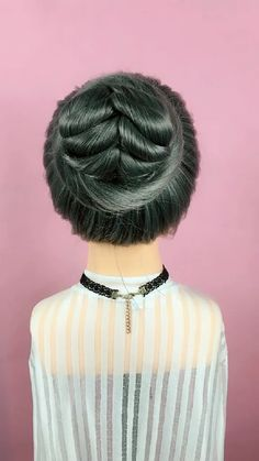 Hairstyle Tutorial 800 Soft, shiny, silky and well-groomed hair is our dream. However, on account of our research for hair care, which is the m. Braided Hairstyles, Cool Hairstyles, Hairstyles Videos, Curly Hair Styles, Natural Hair Styles, Hair Upstyles, Hair Videos, Purple Hair, Synthetic Hair