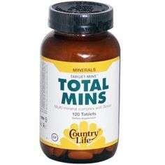 Country Life TargetMins Total Mins Multimineral Complex with Boron 120Count *** For more information, visit image link. Note: It's an affiliate link to Amazon.
