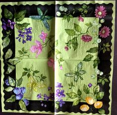 Decoupage Napkins,2+1 FREE Giant   Paper Napkins, MORNING TEA , 18 inches (42cm) for Decoupage, Paper-Craft and Collage by kroshkame on Etsy