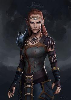 pollyfan fucks-57 female wood elf armor - Google Search D&d Rpg, Elf Ranger, Held, Fantasy