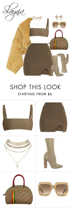 """6/6/17"" by slaynia ❤ liked on Polyvore featuring Matteau, Charlotte Russe, adidas Originals, Christian Dior and Gucci"