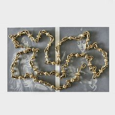 Vintage Grossé Chain Signed Gold Tone Chain Costume