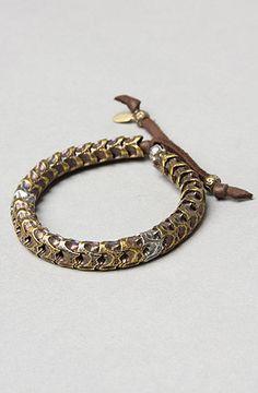 The Snake Vertebrae Bracelet in Bronze by M Cohen