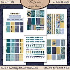 Happy Planner Sticker Set Digital by DigitalDesignsbyJodi on Etsy