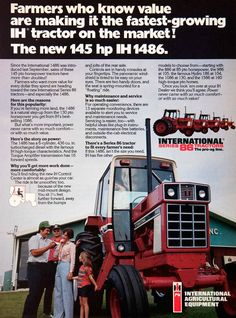 Some good literature from the good days. Case Ih Tractors, Big Tractors, Farmall Tractors, Vintage Tractors, John Deere Tractors, Vintage Farm, International Tractors, International Harvester, Old Advertisements