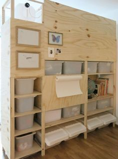 There is never enough storage! But with the right Ikea storage hack you can create stunning, inexpensive storage easily. There are a ton of awesome Ikea storage hacks ideas out there so you will… Plywood Storage, Ikea Storage, Storage Hacks, Built In Storage, Media Storage, Ikea Inspiration, Ikea Room Divider, Under Bed Storage Boxes, Ikea Basket