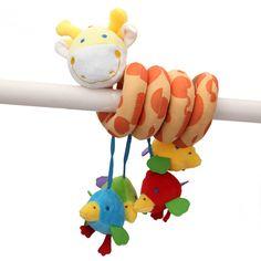 Bebés niños cama alrededor juguete educativo entrega encantadora animales de la jirafa de peluche juguete suave