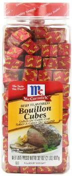 Bouillon cubes are compressed stock.  This salty essential will help you flavor soups, rices, ramen style noodles and gravies