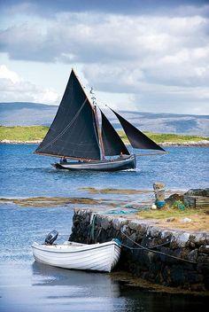 Galway Hooker in Roundstone Bay by Destination Connemara