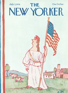 size: Premium Giclee Print: The New Yorker Cover - July 3 Wall Art by William Steig : The New Yorker, New Yorker Covers, Framed Artwork, Wall Art, Vogue, Cover Art, Vivid Colors, Giclee Print, Illustration Art