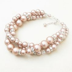 Modern Vintage CHAMPAGNE Bridal Bracelet Twisted by luxedeluxe