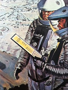 I just noticed something on the back cover of the 2001: A Space Odyssey soundtrack record—an astronaut holding what looks to be an iPad-like device. Pretty interesting considering the fact that this was released in 1968. The illustration is by Robert McCall who died at 90 in 2010.