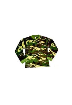 Camouflage Thermal Knit Henley Shirt