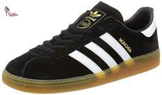 adidas Munchen, Chaussures de Running Homme, Noir (Core Black/Ftwr White/Gum 3), 41 1/3 EU - Chaussures adidas (*Partner-Link)