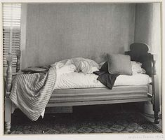 Artwork by Walker Evans, Bed, Enfield, New Hampshire, Made of Silver print