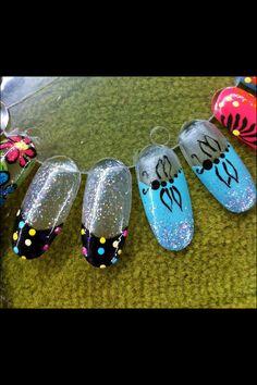 Tracy Sabatino dragon fly nail art