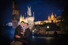 Graham & Wayne post wedding portrait session in Prague by American Photographer Kurt Vinion. Post Wedding, Prague, Wedding Portraits, American, Graham