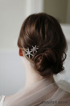 Jennifer Behr Bridal 2014 Collection :: photography by Belathee :: Double Star Bobby Pin available at www.jenniferbehr.com